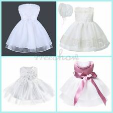 Toddler Girl Baby Princess Wedding Dress Birthday Gift Party Christening Gown
