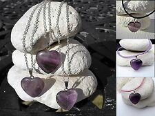 Amethyst Pendant Necklace Choose Pendant + 925 Silver Chain or Real Leather Cord