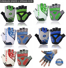 MTB Breathable Cycling Bike Bicycle Sports GEL Pad Half Finger Silicone Gloves