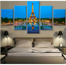 Eiffel Tower Picture Canvas Painting Wall Poster Abstract Modern Art Home Decor