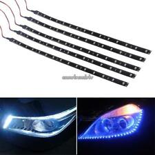 5 x 15 LED 30cm Car Vehicle Flexible Waterproof Strip Light Blue/Bright White