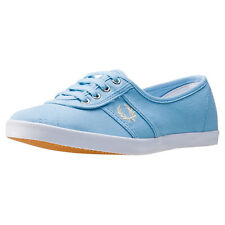 Fred Perry Aubrey Womens Trainers Sky Blue New Shoes