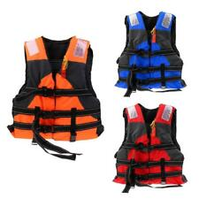 Safety Adult Life Jacket Kayak Sailing Swimming Buoyancy Aid Foam Vest + Whistle