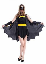 Hot Sexy Bat fighter Costume Bat Girl Role Play Lingerie Unique Halloween Skirt