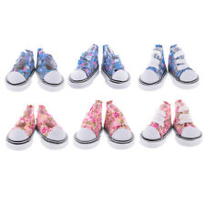 Pair Lace-up High Top Touch Fasten Canvas Shoes for 1/6 BJD SD DOD LUTS Doll