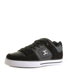 Mens DC Shoes Pure SE Black Dark Grey Low Top Skate Trainers Shu Size