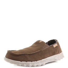 Mens Hey Dude Shoes Farty Suede Nut Brown Loafers Shoes Shu Size