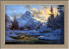 Oil Painting HD Canvas Print/Modern Art Decorative Sunny mountain
