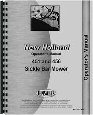 New Holland 451 456 Sickle Bar Mower Operators Manual (NH-O-451,456)