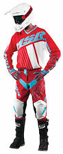 MSR Axxis Red/Teal/White Jersey & Pant Combo Set Motocross M17 Off Road Gear