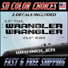 "2 - 23"" Wrangler Decal set Jeep stickers hood fender graphic Jeep Decals - 007"