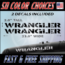 "2 - 23"" Wrangler Decal set Jeep stickers hood fender graphic Jeep Decals - 010"