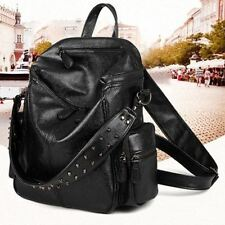 Women Multi Function Leather Material Cell Phone Pocket Backpack