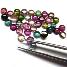 3mm to 5mm Natural Multi Tourmaline Cabochon Round Calibrated Loose Gemstones