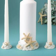 Sea themed / beach themed Unity Candle set from PartyFairyBox - Wedding Favors