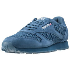 Reebok Classic Leather Knit Mens Trainers Blue New Shoes