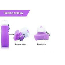 Portable Silicone Outdoor Sports Foldable Water Bottle Camping Travel Running