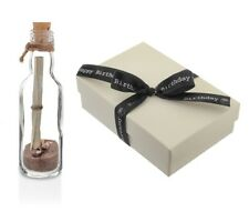 Personalised Birthday Message in a Bottle Keepsake Gift with Box