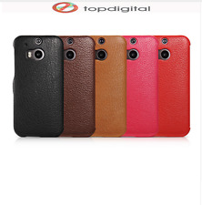 icarer Genuine Leather Case HTC One M8 Luxury Magnetic Wallet Flip Cover Card