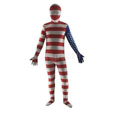 American Flag Costume USA Bodysuits Independence Day Fancy Dress S-XXL