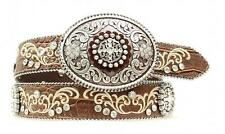 Ariat Western Women Belt Leather Scroll Floral Concho Brown A1512802 Size M