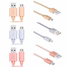 Strong Braided 3A Woven Micro USB Charger Cable Lead for SAMSUNG, SONY, HTC, LG