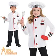 Child Chef Costume Boys Girls Cook Catering Fancy Dress Book Week Day Outfit
