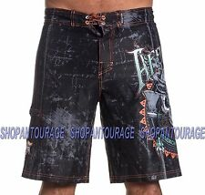 AFFLICTION Cherokee 101BS140 Men`s New Black Boardshorts