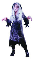 SPIDERS WEB GHOSTLY WITCH CHILDRENS HALLOWEEN FANCY DRESS COSTUME