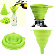 UK SELLER FUNNEL Silicone Collapsible Foldable Silicon Kitchen