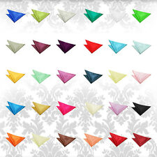 Men's Boy's Plain Satin Handkerchief Evening Wedding Groom Work Pocket Squares