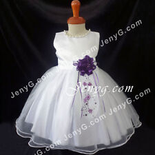 NLDP7 Baby Toddler Wedding Graduation Formal Party Holiday Prom Night Dress Gown