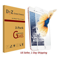 2x Full Coverage Premium Tempered Glass Screen Protector Film for iPhone 7 Plus