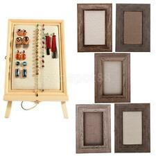 Retro Wooden Shabby Picture Photo Frame Jewelry Wall Mount Display Organizers