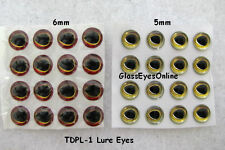 100 PAIR Fish Lure Eyes 5mm to 6mm Tear Drop Pupil Fish Lures, Crafts, TDPL-1