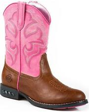 Roper Girls' Light-Up Cowgirl Boot Round Toe - 09-018-1201-1234 TA