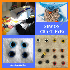 12 PAIR 5mm Sew On Plastic Safety Eyes Choose Color Teddy bears, Dolls, SORP-1