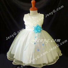 NLISB6 Baby Infants Christening Holiday Birthday Party Formal Pageant Dress Gown