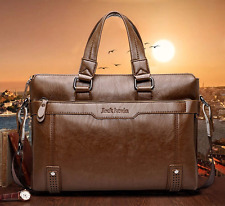 Men's Genuine Leather Handbag Brown Briefcase Laptop Shoulder Bag Messenger Bag
