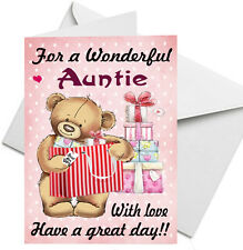 BIRTHDAY CARD PERSONALISED FOR AUNTIE SISTER FRIEND MUM Auntie Birthday Card