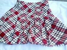 GIRLS' RED / BLACK / WHITE CHECK SKIRT BY CHEROKEE VARIOUS SIZES