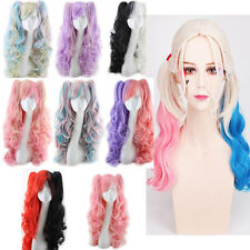 Fashion Lolita Full Curly Wigs Pigtails Wavy Hair Cosplay Costume Anime Party
