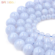 "Natural Round 3A Grade Purple Chalcedony Gemstone Beads Strand 15"" 6 8 10 12mm"