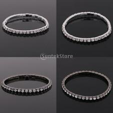 1Row Fashion Crystal Rhinestone Stretch Bracelet Bangle Wedding Bridal Wristband