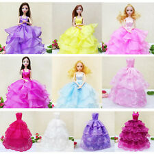 For Barbie Doll Bride Wedding Dress Gown Evening Dress Bridal Wedding Clothes