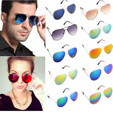 Unisex Womens Mens Vintage Retro Fashion Aviator Mirror Lens Sunglasses Glasses