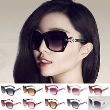Retro Fashion Womens Big Oversize Vintage Designer Eyewear Sunglasses Shades