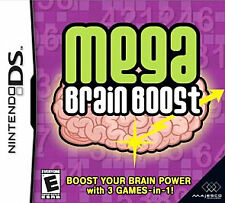 Mega Brain Boost NEW/SEALED Nintendo DS DSI XL LITE 3 3DS 2 2DS FREE SHIPPING!!!