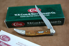 CASE SMALL TEXAS TOOTHPICK KNIFE - OAK SCALES - SCROLLED BOLSTERS - 2005 - NIB