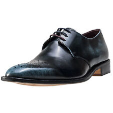 London Brogues Earl Derby Mens Shoes Navy New Shoes
